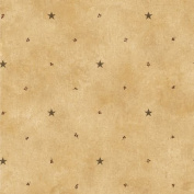 Brewster FFR09064 Wallpaper Barn Home Decor; Taupe Star and Sprigs