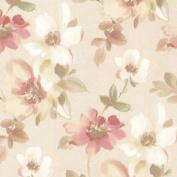 Brewster 2532-20448 Lynette Peach Watercolour Floral Wallpaper