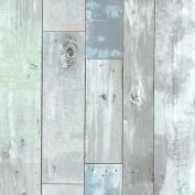 Brewster 2532-20416 Dean Blue Distressed Wood Panel Wallpaper