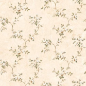 Brewster FFR66371 Neutral Country Rose Vine Wallpaper
