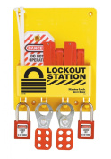 Master Lock S1720E410 Circuit Breaker Lockout Centre With 410RED Zenex Padlock