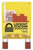 Master Lock Circuit Breaker Lockout Centre, Includes 2 Aluminium Padlocks