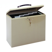 MMF 227109003 Industries Steel Security File Box with Key Lock