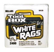 16/PACK SELLARS WIPERS & SORBENTS 50125 TOOLBOX Z400 1/4 FOLD- 25/BUNDLE