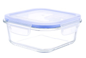 Kinetic Go Green Glasslock Elements Series 800ml Square Food Storage Container with Vented Lid 55086