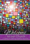 Warner Press 300929 Welcome Folder - Welcome To Our Church And Stained Glass