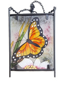 Continental Art Centre Hand Painted Solar Lantern, Butterfly, 6 by 25cm by 90cm