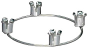 Biedermann & Sons Advent Ring Candle Holder, Chrome