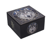 Lisa Parker `The Wild One` Celtic Wolf Trinket Box with Mirror