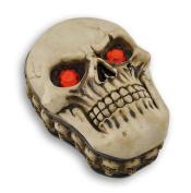 Blazing Red Eyed Sinister Skull Trinket Stash Box
