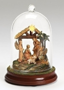 18cm Fontanini LED Lighted Musical Cloche Dome Nativity Scene Christmas Decoration