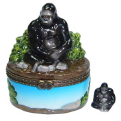 Great Apes Gorilla Porcelain Hinged Trinket Box phb