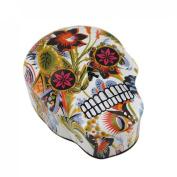 Floral Print Sugar Skull Moulded Trinket/Stash Box