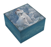 Anne Stokes Winter Guardians Fabric Covered Mirrored Trinket Box
