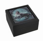 Gothic 'Siren's Lament' Mermaid Ceramic Art Tile Trinket Box