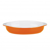 Mario Batali by Dansk 826882 Stoneware 29cm Oval Au Gratin, Large, Persimmon