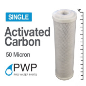 PWP Activated Carbon Water Filter Whole House RO CTO 2.5x10 In 50 Micron