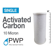 PWP In Carbon Block Water Filter Whole House RO CTO 4.5 x 10 10 Micron