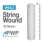PWP String Wound Sediment Water Filter Polyproylene 2.5 x 10 In 50 Micron