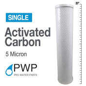 PWP In Carbon Block Water Filter Whole House RO CTO 4.5 x 20 5 Micron