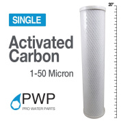 PWP In Carbon Block Water Filter Whole House RO CTO 4.5 x 20 50 Micron