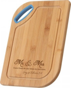 P. Graham Dunn 113217 Cutting Board - Mr & Mrs With Handle - 7.75 x 11