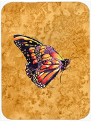 Butterfly on Gold Glass Cutting Board Large