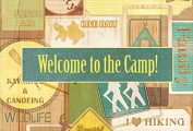 Welcome to the Camp Fabric Placemat SB3080PLMT