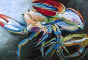 Blue Crab Fabric Placemat JMK1103PLMT