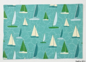 Day at the Lake Sailboats and Waves Reversible Placemats Set of 4