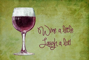 Wine a little laugh a lot Fabric Placemat SB3067PLMT