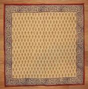 Bagru Block Print Cotton Table Napkin 46cm x 46cm Barley