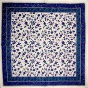 Fleur De Lis Cotton Table Napkin 46cm x 46cm Blue