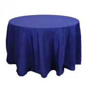 Koyal Wholesale Round Polyester Tablecloth, 300cm , Navy Blue