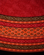 Calico Print Round Cotton Tablecloth 180cm Red