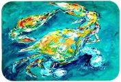 By Chance Crab in Aqua blue Kitchen or Bath Mat 24x36 MW1162JCMT