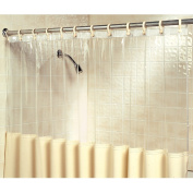 Clear View Antimicrobial And Germicidal Bath Shower Curtain - Stop Mould & Germs