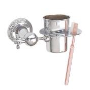Chrome Brass Toothbrush Holder Brush Cup Tumbler Holder | Renovator's Supply