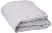 SLEEP TITE Quilted Mattress Pad with Damask Cover and Down Alternative Fill - Twin