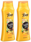 Tone Energising Body Wash - Blissful Awakening - With Caffeine & Vanilla Blossom - Net Wt. 18 FL OZ (532 mL) Per Bottle - Pack of 2