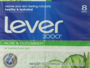 Lever 2000 Bar Soap, Aloe and Cucumber 120ml, 8 Bar