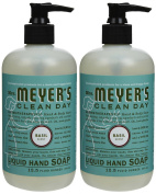 Liquid Hand Soap, Basil, 370ml, 2 pk