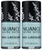 Nuance Salma Hayek Nail Lacquer SEA GLASS 515 (15 ML/0.5 FL. OZ.) EACH BOTTLE (PACK OF 2) PLUS A