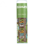 Mongo Kiss Display Centre Organic Lip Balm - Eco Lips - Peppermint - .740ml - Case of 15 - With Mongongo Oil - Gluten Free