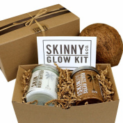 Skinny & Co. Coconut Oil Body Butter Sugar Scrub Glow Collection Gift Set