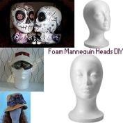 BephaMart Foam Mannequin Head Model Wig Hat Stand Display Shipped and Sold by BephaMart