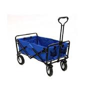 Mac Sports Collapsible Folding Utility Waggon Garden Cart Shopping Beach Blue