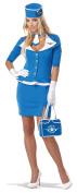 Womens 60's Stewardess Adult Costume Medium Size 8-10