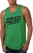 World's Tallest Leprechaun Tank Top Sleeveless Tee for Saint Patricks Day -S