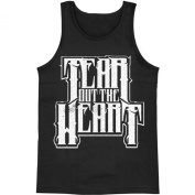 Tear Out The Heart Men's Logo Mens Tank Small Black